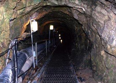 Một trong 4 đường hầm bí mật do Triều Tiên đào được Hàn Quốc phát hiện trước đây. Ảnh: Want China Times
