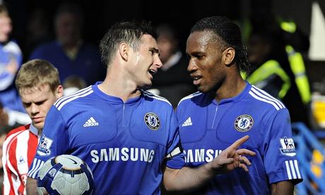 Lampard và Drogba khi còn thi đấu cho Chelsea