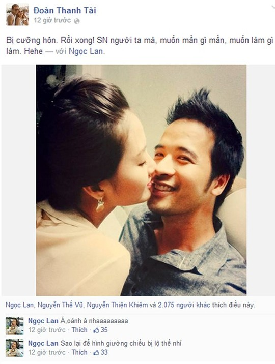 Ngọc Lan công khai được cầu hôn trong ngày sinh nhật cách đây không lâu