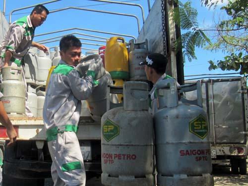 Các thương hiệu gas ở TP HCM đồng loạt tăng 8.000 đồng/bình 12 kg