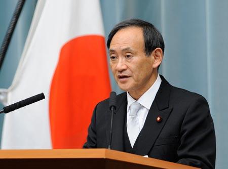 Ông Yoshihide Suga, Chánh Văn phòng Nội các Nhật Bản. Ảnh: Tân Hoa Xã