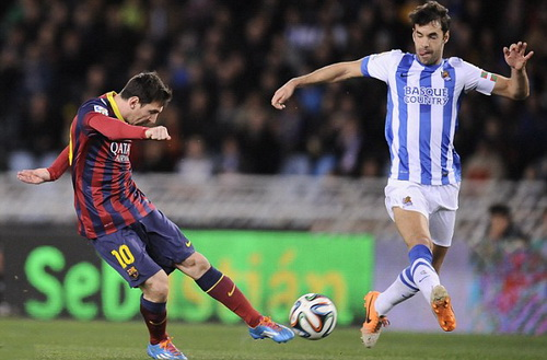 Messi ghi bàn mở tỉ số từ phút 27