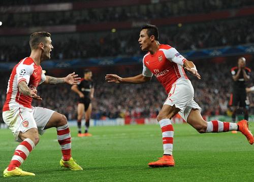 Alexis Sanchez ghi bàn duy nhất cho Arsenal