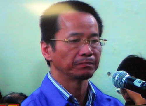 Bị cáo Lý Xuân Hải, nguyên tổng giám đốc Ngân hàng ACB tại phiễn tòa chiều 3-12