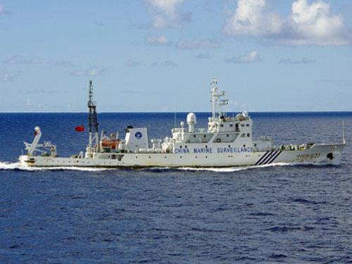 Tàu hải giám Trung Quốc. Ảnh: EPA