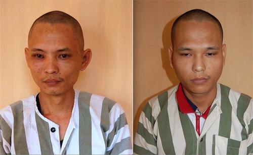 Hai anh em Nguyễn Văn Tuấn (trái) và nguyễn Văn Tú giả danh công an lừa đảo XKLĐ