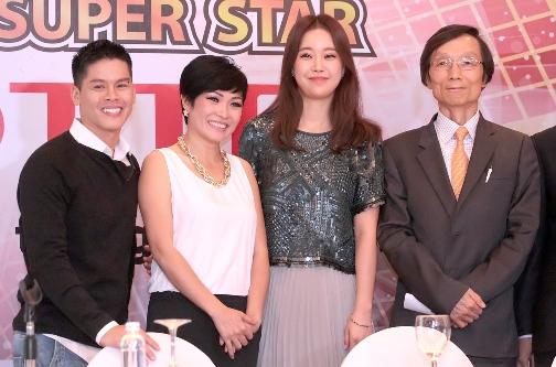 Cô có mặt tại Hà Nội để tham dự buổi họp báo ra mắt chương trình tìm kiếm tài năng Ngôi sao Việt – VK Pop SuperStar