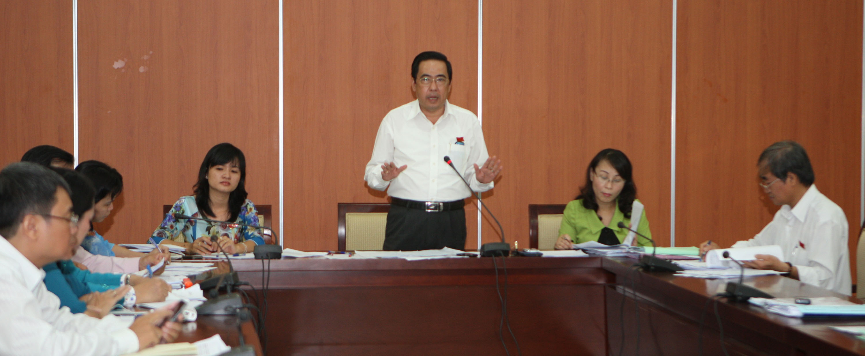 Thảo luận theo tổ tại kỳ họp HĐND TP HCM, ngày 8-7