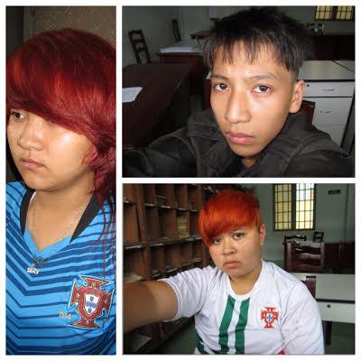 Lam, Hòa và Thúy (áo trắng) tại công an