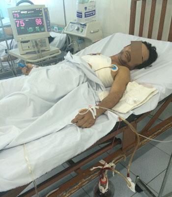 Nạn nhân đang được điều trị tại Bệnh viện Đa khoa Long Khánh