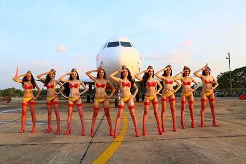 Những hotgirl bên máy bay đã tạo nên sự khác biệt cho VietJetAir