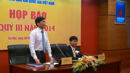 Buổi họp báo thường kỳ của Tập đoàn Dầu khí Việt Nam