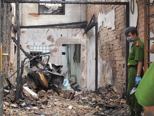 Ngôi nhà bị cháy rụi