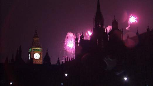 New Year's celebrations in London