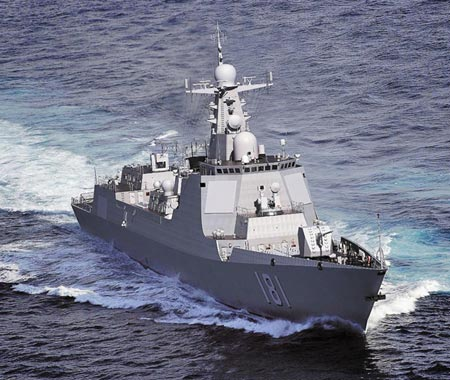 A Chinese Type 052D destroyer. (Photo/CNS)