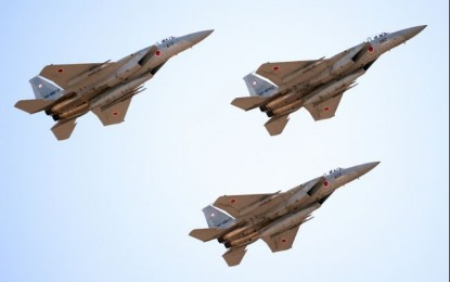 Japan scrambled jets against Chinese planes 415 times in 2013