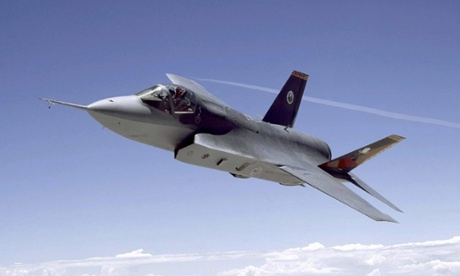 An F-35 Joint Strike Fighter.