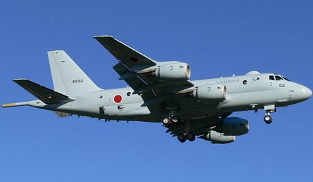 The P-1, the Japan Maritime Self Defense Forces most advanced patrol aircraft. (Internet photo)