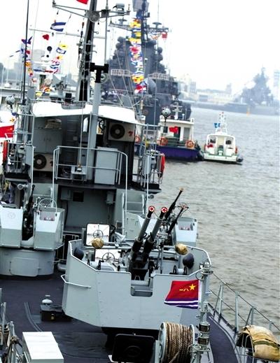 中俄军演参演舰艇今日离港开始实兵演练(图)