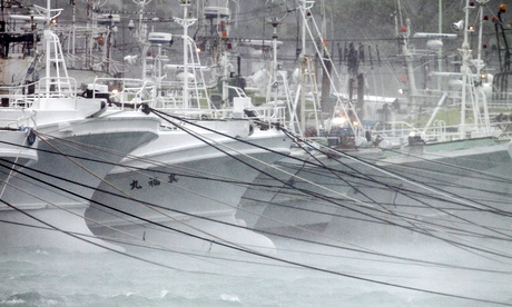 Typhoon Neoguri approaches Okinawa