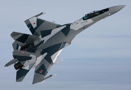 A Su-35 fighter of the Russian Air Force. (Internet Photo)