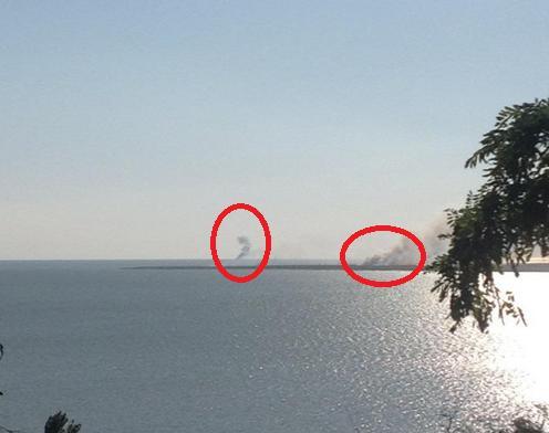 Tàu tuần tra Ukraine bị tấn công