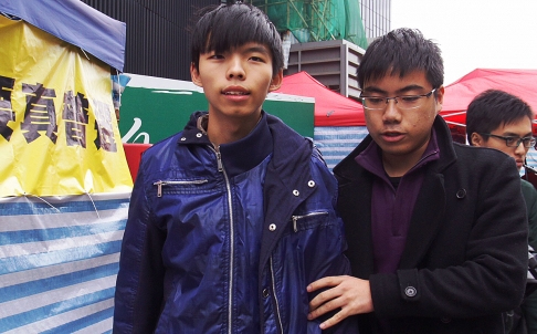 Joshua Wong appeared weak and needed help to walk to the toilet on Thursday. Photo: Dickson Lee