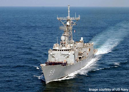 The Perry-class frigate USS Kauffman at sea. (Photo courtesy of US Navy website)