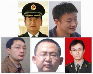 5 sĩ quan quân đội Trung Quốc bị Mỹ cáo buộc tấn công mạng một số công ty Washington. Ảnh: Reuters
