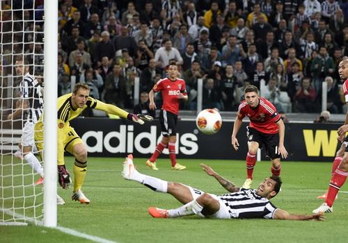 Hàng thủ Benfica vất vả với các chân sút Juventus