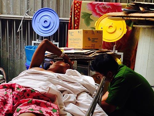 Công an đang lấy lời khai của Trần Thiệu Như tại bệnh viện