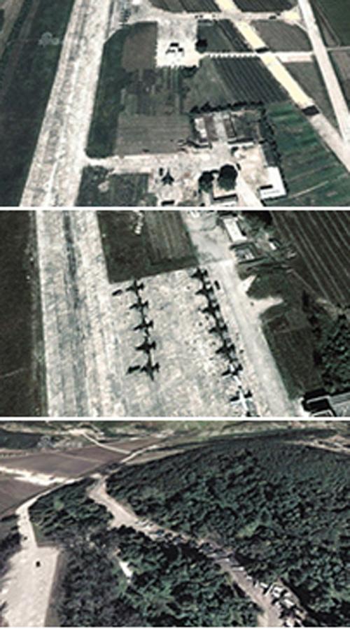 Ảnh chụp căn cứ không quân của Triều Tiên. Ảnh: Tân Hoa Xã
