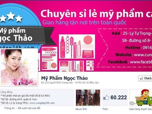 Tạo trang kinh doanh mỹ phẩm của chị Đào Hồng Lâm - Ảnh: KD