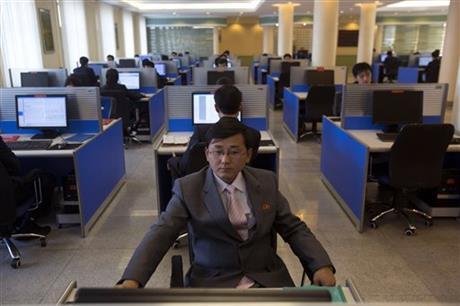 Phòng máy tính tại Đại học Kim Il Sung ở Bình Nhưỡng. Ảnh: AP