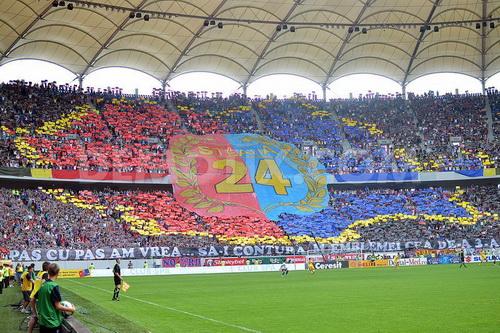 Sân vận động Ghencea khi Steaua vô địch Romania lần thứ 24 năm 2013