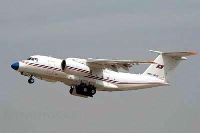 Chiếc máy bay bị nạn thuộc loại máy bay vận tải quân sự Antonov An-74 do Liên Xô sản xuất. Ảnh: KPL