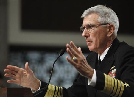 Tư lệnh Bộ Chỉ huy Thái Bình Dương của Mỹ, Đô đốc Samuel Locklear. Ảnh: Reuters