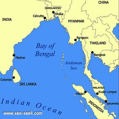 Vùng biển Andaman nằm cách xa khu vực tìm kiếm cũ đến hàng trăm km