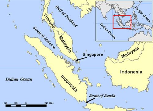 Máy bay đã bay vào eo biển Malacca ở phía Tây Malaysia?