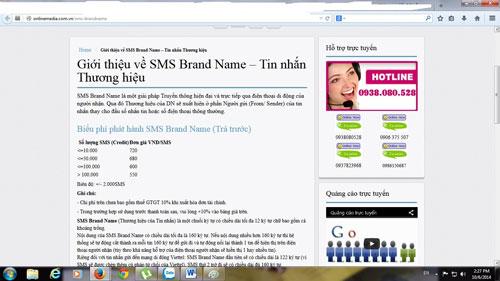 Dịch vụ quảng cáo qua tin nhắn SMS của nhà mạng được chào mời công khai