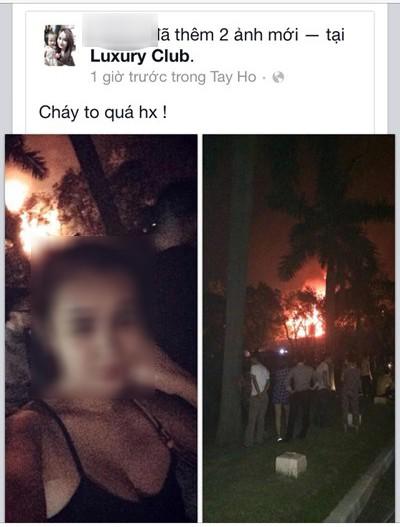 Bị chỉ trích vì tự sướng tại đám cháy