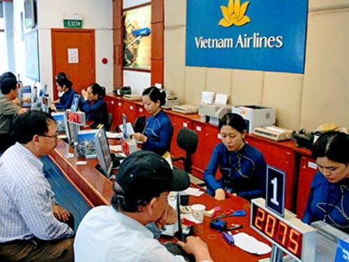 Một đại lý bán vé của Vietnam Airlines