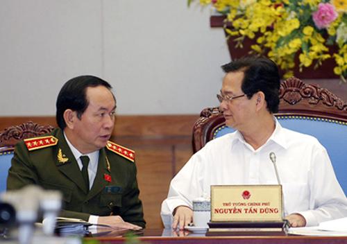 Thủ tướng Nguyễn Tấn Dũng và Đại tướng, Bộ trưởng Bộ Công an Trần Đại Quang