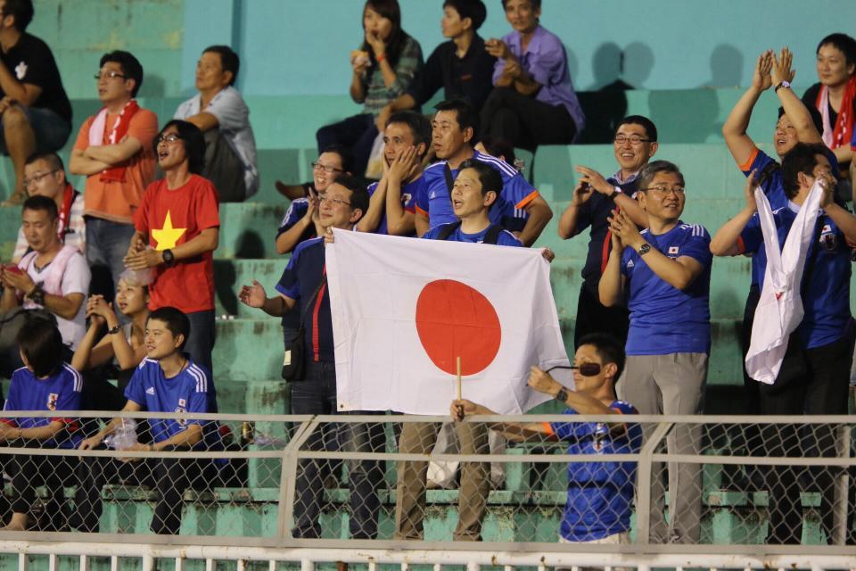 Số ít khán giả Nhật trên sân Thống Nhất