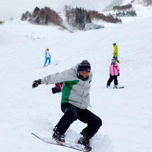 """""""Mình quyết định đi trượt tuyết cho đỡ nhớ nhà."""