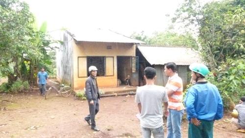 Căn nhà ông Vang, nơi xảy ra vụ tự tử bằng thuốc nổ.