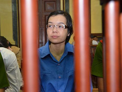 Bị cáo Huỳnh Thị Huyền Như tại phiên xử ngày 16-12   Ảnh:  Tấn Thạnh