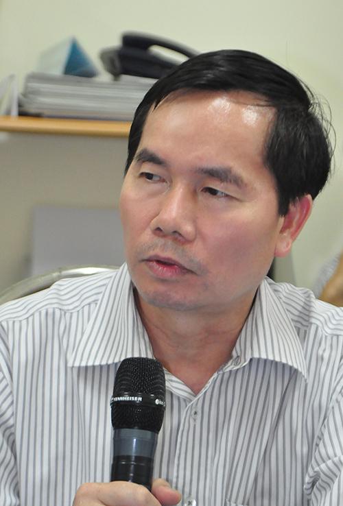 Ông Nguyễn Văn Huyện, Chánh Thanh tra Bộ Giao thông vận tải - một trong 4 thí sinh của cuộc thi tuyển chức danh Tổng cục trưởng Tổng cục Đường bộ Việt Nam.