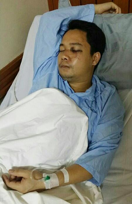 Ông Nam đang điều trị tại Bệnh viện Việt Tiệp