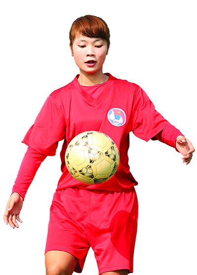 Thanh Lâm - hoa khôi mới của bóng đá nữ Việt Nam. Ảnh: Mạnh Duy